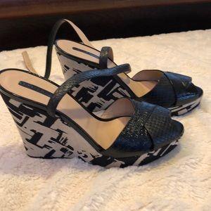 Longchamp sandals wedge new 38